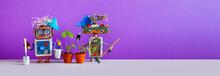 Two Gardener Steampunk Toys Wi...