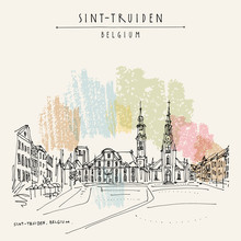 Sint-Truiden Main Square, Belg...