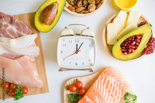 Canvastavla Intermittent fasting and Healthy food