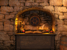 Old Stone Cottage Interior Wit...