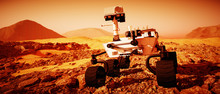 A Mars Rover Explores The Red ...