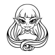 Vampire Girl Portrait. Hallowe...