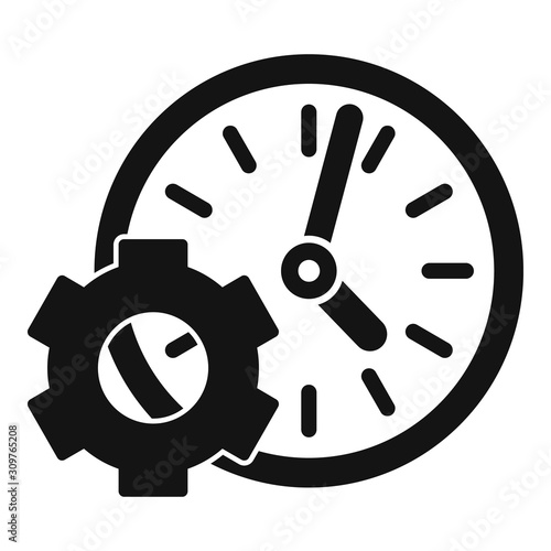 Gear work time icon Canvas Print