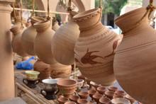 Hanging Clay Jugs Close-up, Nizwa Souq, Oman