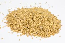 Heap Of Yellow Mustard Seeds