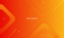 Abstract Orange Background With Square Shape, Can Be Used For Banner Sale, Wallpaper, For, Brochure, Landing Page.