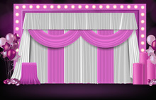 Abstract Background Of Sweet Pink Wedding Backdrop, Celebration Party Concept