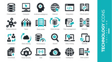 Servers And Technology Icons