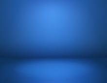 Blue Studio Background. Empty ...
