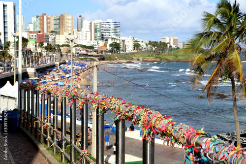 Photo  tapes our lord Bonfim Bahia best known Symbol City Salvador da Bahia – Brazil