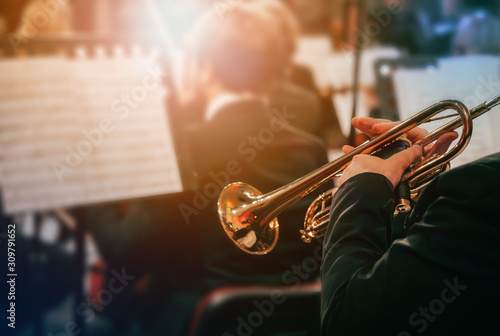 Foto Playing the trumpet