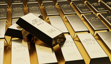 Gold Bullion Concept About Gold Value, Success And Financial.3D Render