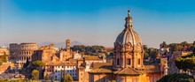 Panorama Rome Italy, Sunset Ci...