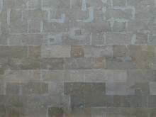 Old Vintage Wall Of Stone Knock-on As Background