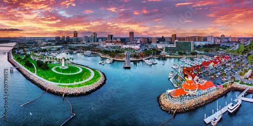 Naklejki miasto  long-beach-city-panorama-w-pieknym-los-angeles