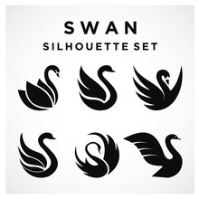 Swan Set Logo Template Vector ...