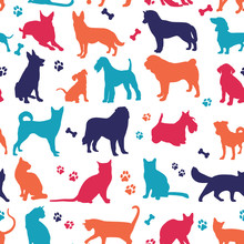 Set Of Nicecolors Cats And Dog...