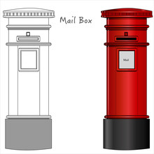 Mail Box. London Postbox, Red ...