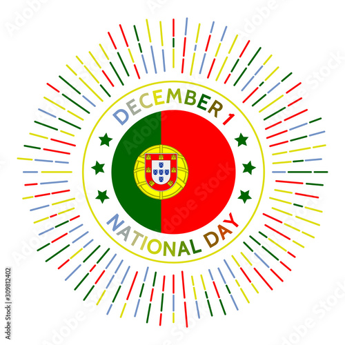 Photo Portugal national day badge