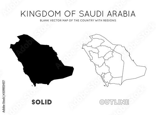 Saudi Arabia map Wallpaper Mural