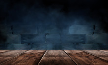 Wooden Table, Empty Room With ...