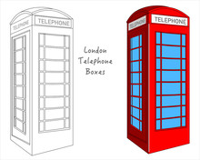 Red  British Phone Booth. Engl...