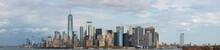 View Of Manhattan Skyline At Sunset, New York City, USA