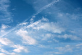 Fototapeta Na sufit -  blue sky and white clouds