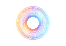 Abstract Rainbow Spirograph On White Background