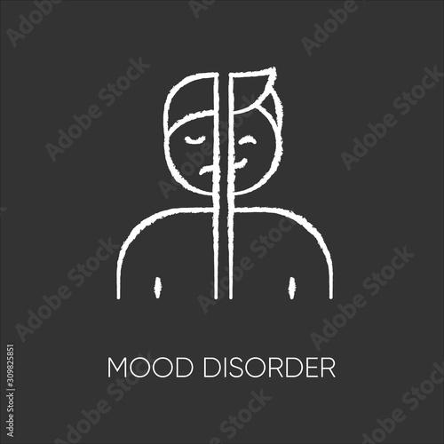 Mood disorder chalk icon Fototapet