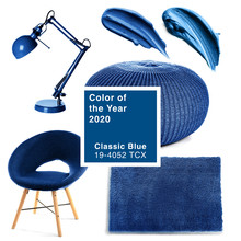 Different Objects In Blue Colo...