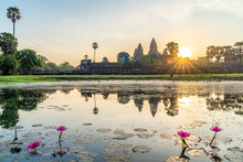 Landscape With Angkor Wat Temp...