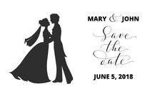 Save The Date Card With Bride ...