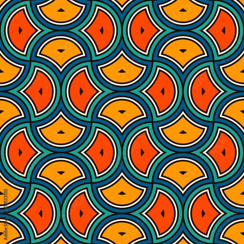 Fotografía  Ethnic tribal affrican seamless pattern