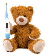 .teddy Bear With A Thermometer...