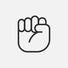 Protest Hand Icon Isolated On ...