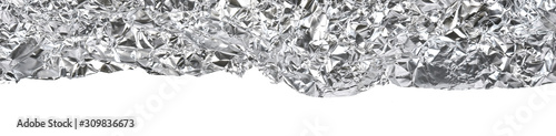 closeup of an aluminium foil background Canvas Print