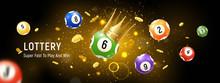 Lottery Balls Realistic Backgr...