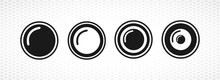 Camera Objective Vector Icon For Mobile Concept And Web Apps Design