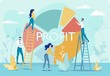 Profit Round Analytical Chart and People Team