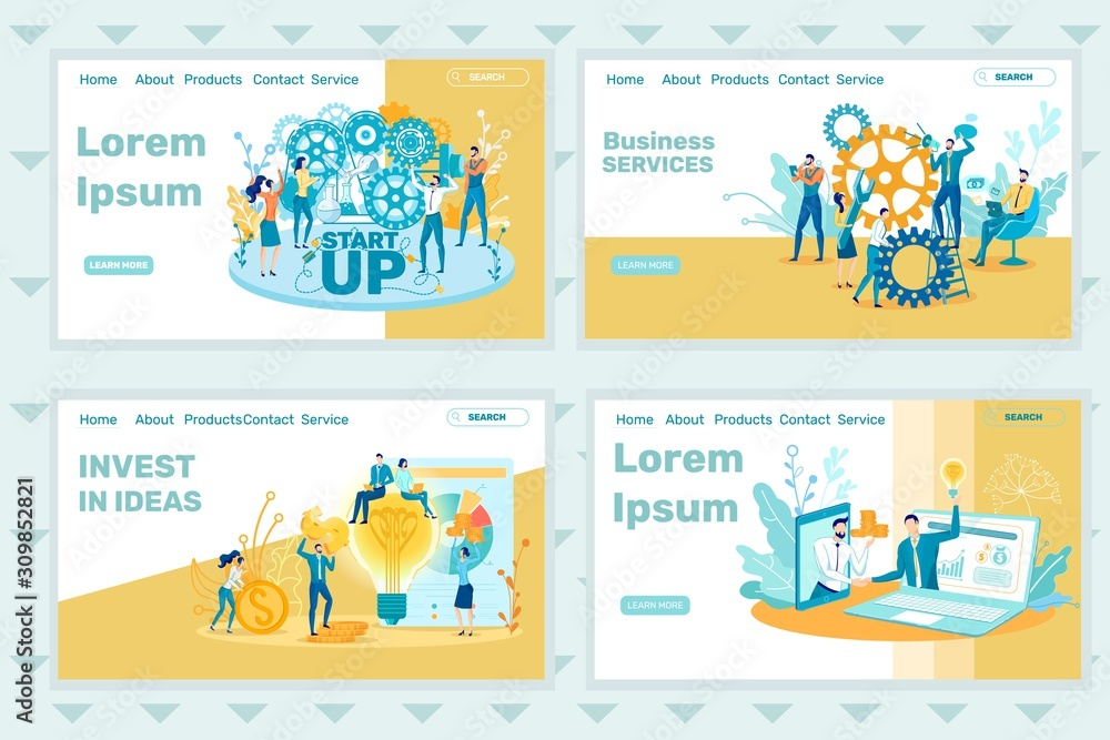 Fototapeta Internal Work in Business, Invest in your Ideas.
