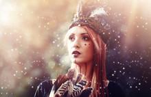 Beautiful Shamanic Woman With ...