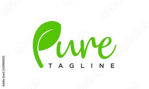 Fototapeta Pure logo design concept editable