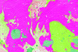 Leinwandbild Motiv Abstract ink background.Winter pink and green marble ink paper textures on white watercolor background.Wallpaper for web and game design.