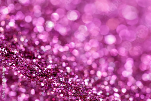 Pink and purple glitter, Defocused abstract holidays lights With Sparkle for background. - 309865020
