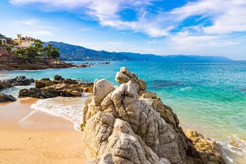 Beautiful morning at Conchas Chinas beach, Puerto Vallarta