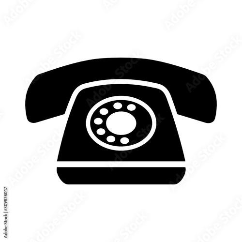Fototapeta telefon ikona