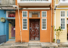 Exterior Of Historical Residential Building On Cheung Chau Island, Hong Kong