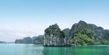 Beautiful Azure Water Of Lagoon In The Halong Bay. Ha Long Bay, Vietnam.