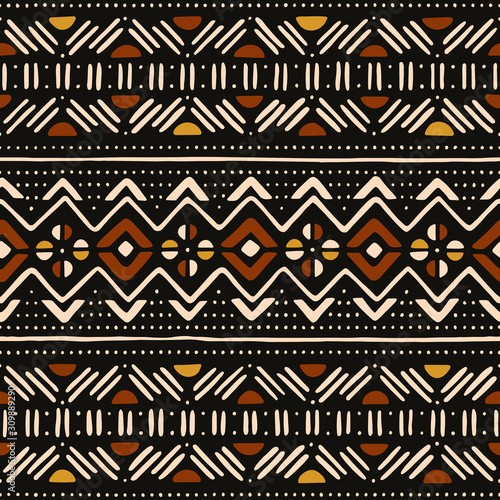 Tribal seamless pattern. Traditional African mud cloth. Wall mural